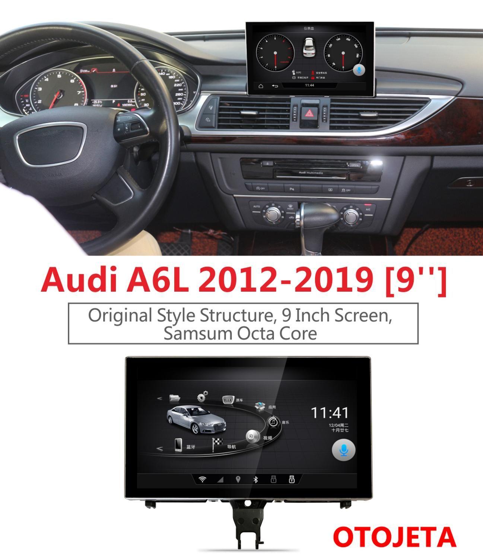 Smart GPS und premium-Navigation für Audi A6L A6 2012-2019 full touch 9 Teleskop bildschirm OTOJETA auto android 8.0 video player