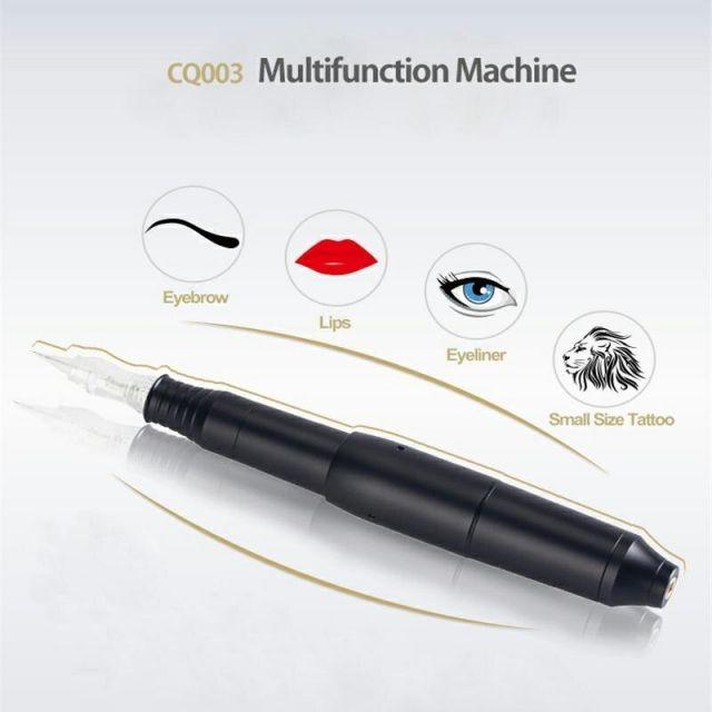 Stylo rotatif de Machine de tatouage de Machine permanente de maquillage de vidéo de HD avec l'aiguille pour Microblading des Kits de stylo de tatouage de pistolet de lèvre de sourcil ue