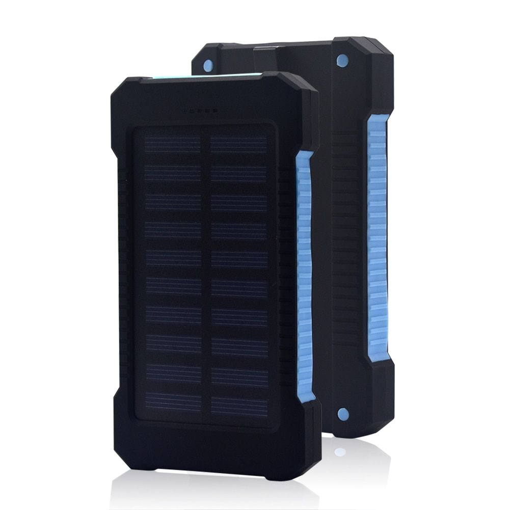 Batterie externe 30000mah batterie Portable solaire Portable batterie externe double USB 18650 PowerBank pour iPhone Samsung Xiaomi Pover Bank