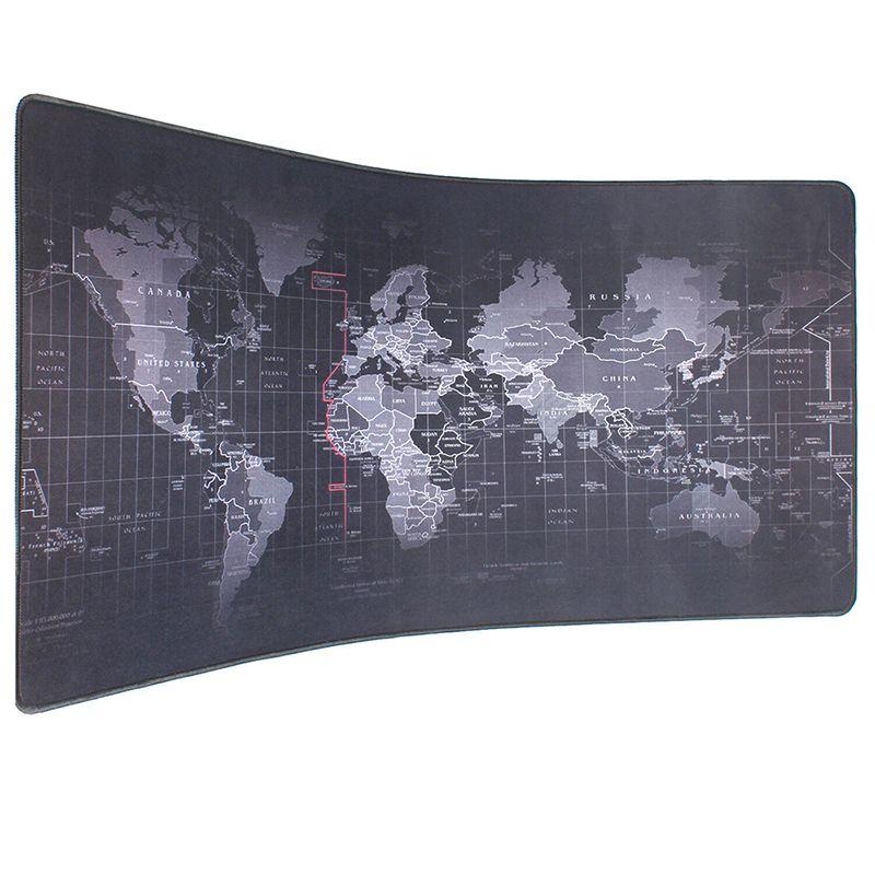 Pbpad Extra grande taille 90*40cm vieille carte du monde tapis de souris en caoutchouc naturel ordinateur jeu tapis de souris verrouillage bord PC tablette tapis de bureau