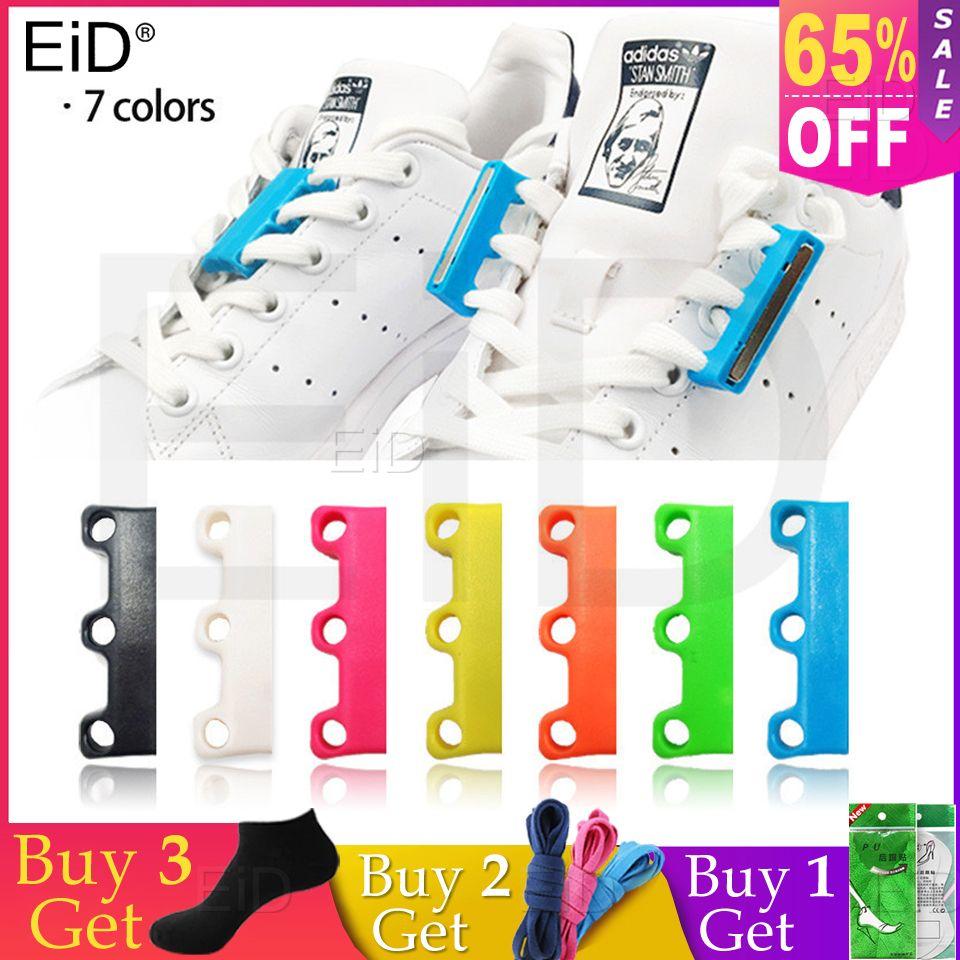 EID 1 paire 6 lacets de couleur boucle de Lacet magnétique fermetures paresseuses Lacet Chaussure lacets non à nouer lacets de chaussures paresseux