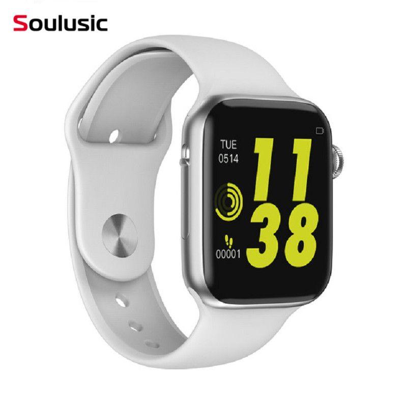 Soulusic IWO 8 lite Bluetooth appel montre intelligente ECG moniteur de fréquence cardiaque Smartwatch pour Android iPhone xiaomi bande PK iwo 8 10