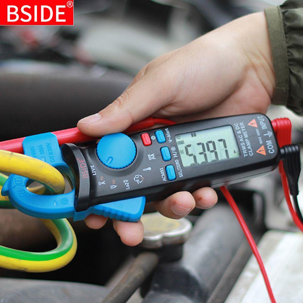 Mini pince numérique mètres BSIDE série ACM véritable RMS DC courant alternatif tension Ohm Temp capacité Hz NCV testeur ampèremètre multimètre