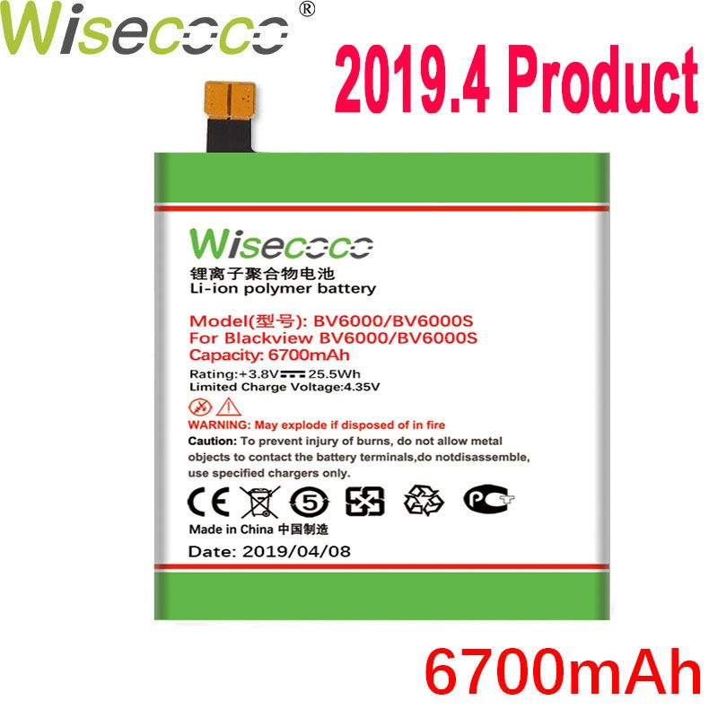 Wisecoco Battery For Blackview BV6000 BV6000S BV7000/BV7000 PRO BV8000/BV8000 PRO Mobile Phone Latest Production+Tracking Number