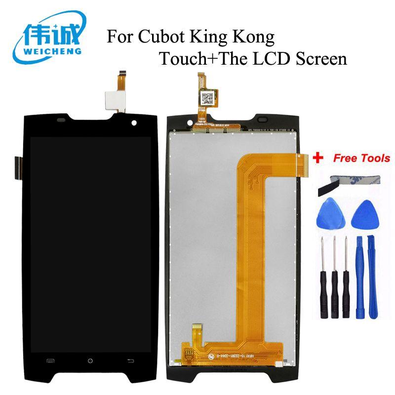 WEICHENG Für Cubot KingKong LCD Display + Touch Screen Digitizer Montage Ersatz Zubehör für Cubot König Kong LCD + Werkzeuge