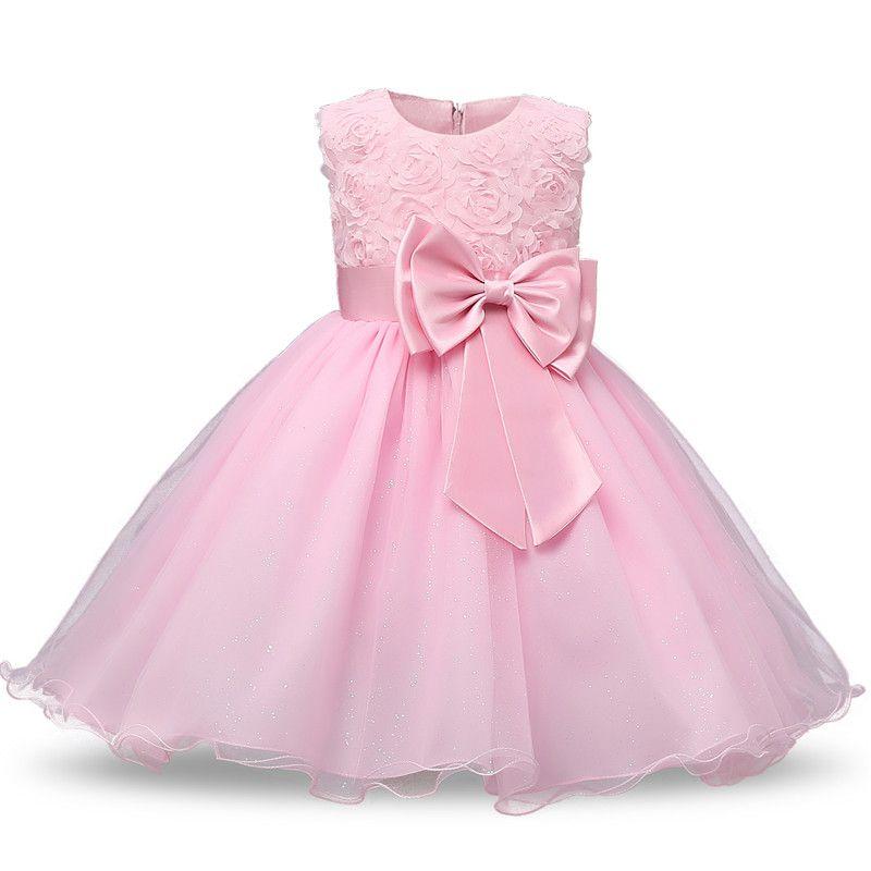Princesse fleur fille robe d'été Tutu mariage fête d'anniversaire robes pour filles enfants Costume adolescent conceptions de bal
