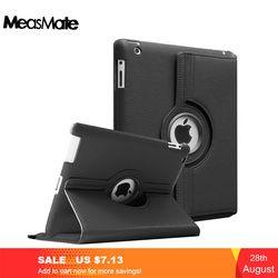 Case for Apple iPad 2 3 4,360 Rotation Flip PU Leather Case Stand Smart Case Cover for iPad 2 iPad 3 iPad 4 Tablet Funda Cases