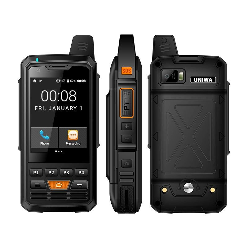 UNIWA Alps F50 2G/3G/4G Zello Walkie Talkie Android Smartphone Quad Core Handys MTK6735 1GB + 8GB ROM Signal Booster