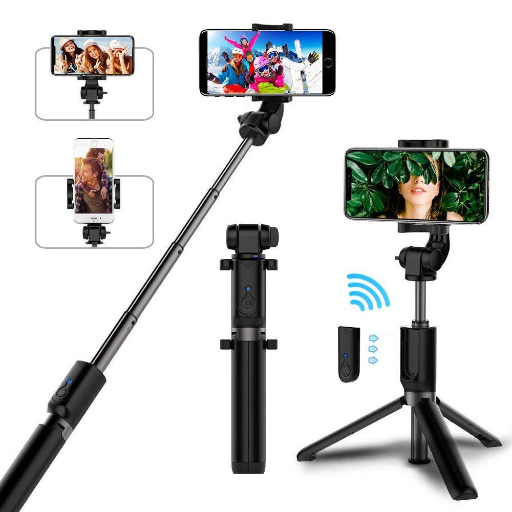 Bâton de selfie Bluetooth avec trépied en alliage de plastique auto-bâton de selfie téléphone smartphone selfie-bâton pour iphone samsung huawei