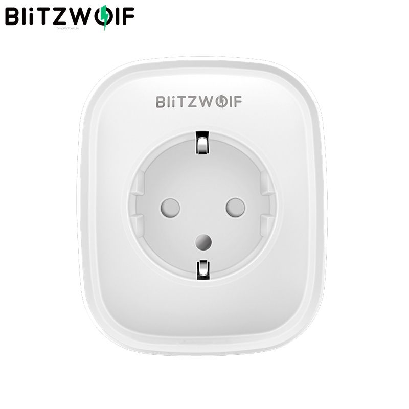 In Stock BlitzWolf BW-SHP5 2.1A Dual USB Ports 16A Smart WIFI Socket EU Plug Work with Alexa Google Assistant BlitzWolf Tuya APP