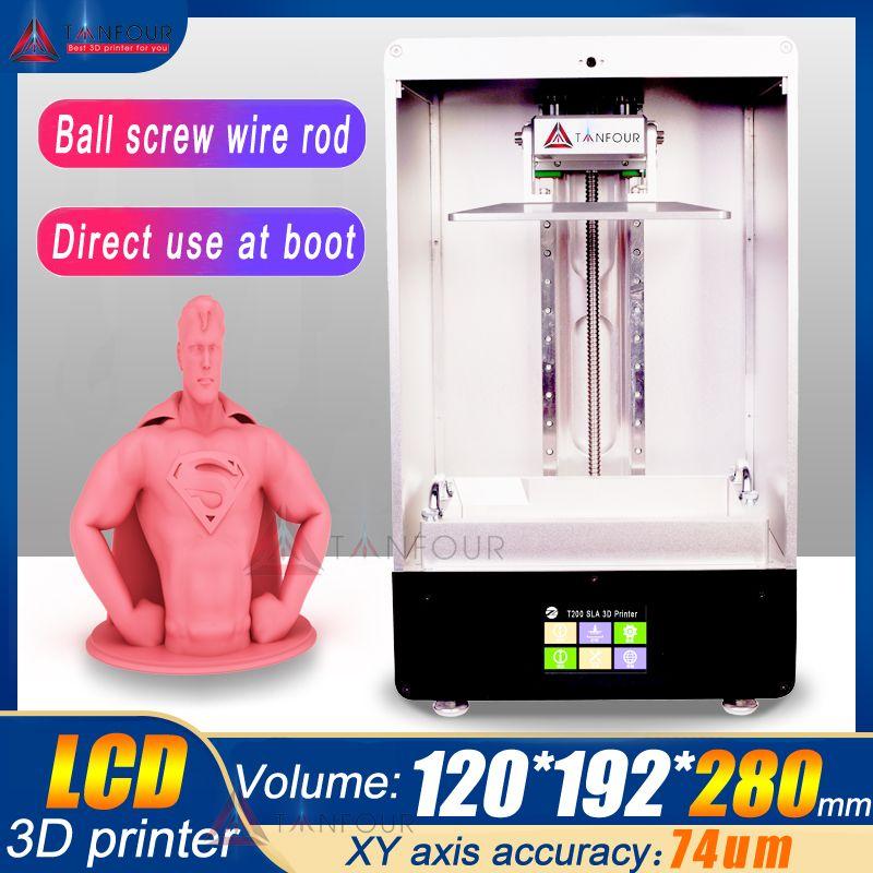 280mm * 192*120mm TIANFOUR 8,9 zoll T280 T200 SLA/LCD/DLP harz 3D Drucker große druck volumen licht heilung 405nm uv harz