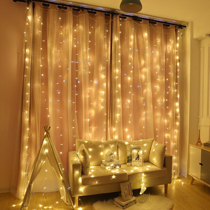 2x2/3x2/6x3M rideau guirlande LED chaîne lumière noël fée LED guirlande lumières extérieures pour la maison de mariage décoration de jardin