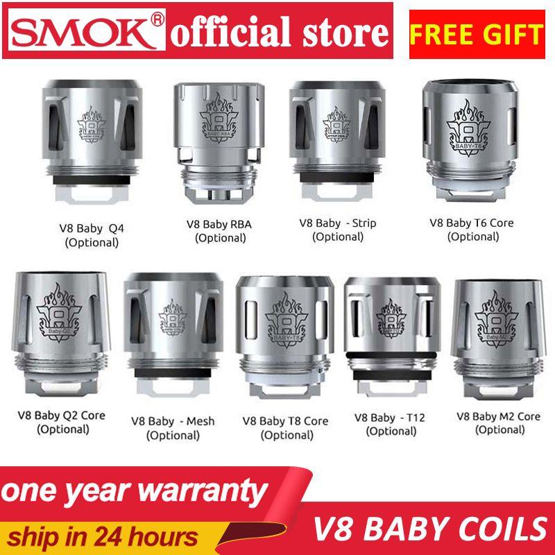 Smok TFV16 maille triple bobines TFV8 bébé bobine tête V8 Baby-T8 V8 Baby-T6 V8 Baby-X4 V8 Baby-Q2 noyau pour TFV8 bébé bête réservoir