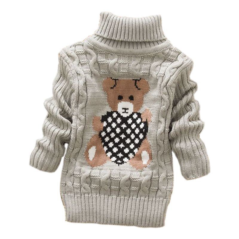 2019 autumn winter Infant Baby Boys Girl Children Kids Knitted high collar Pullovers Turtleneck Warm thick Sweaters 2-8 year