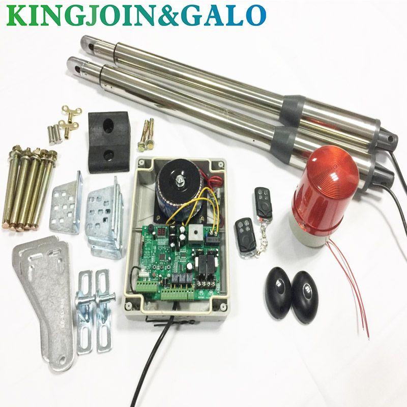 Portails électriques/ouvre-porte battante électrique 300 KG moteur de porte battante avec 2 télécommande avec 1 paire de photocellules 1 voyant d'alarme