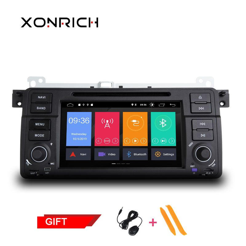 1 Din Android 9.0 Quad Core Car DVD Player For BMW E46 M3 318/320/325/330/335 Rover 75 1998-2006 GPS Navigation BT Wifi