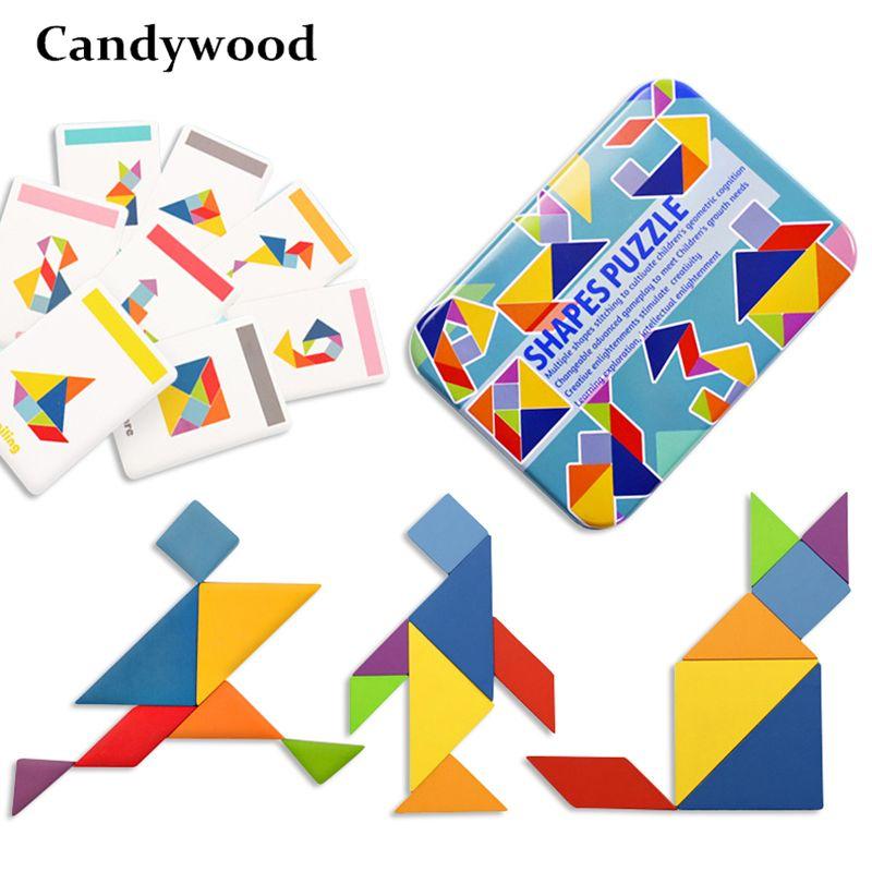 Candywood Puzzle créatif 4 Styles enfants jouets en bois pour enfants Puzzle enfants jouets éducatifs d'apprentissage précoce