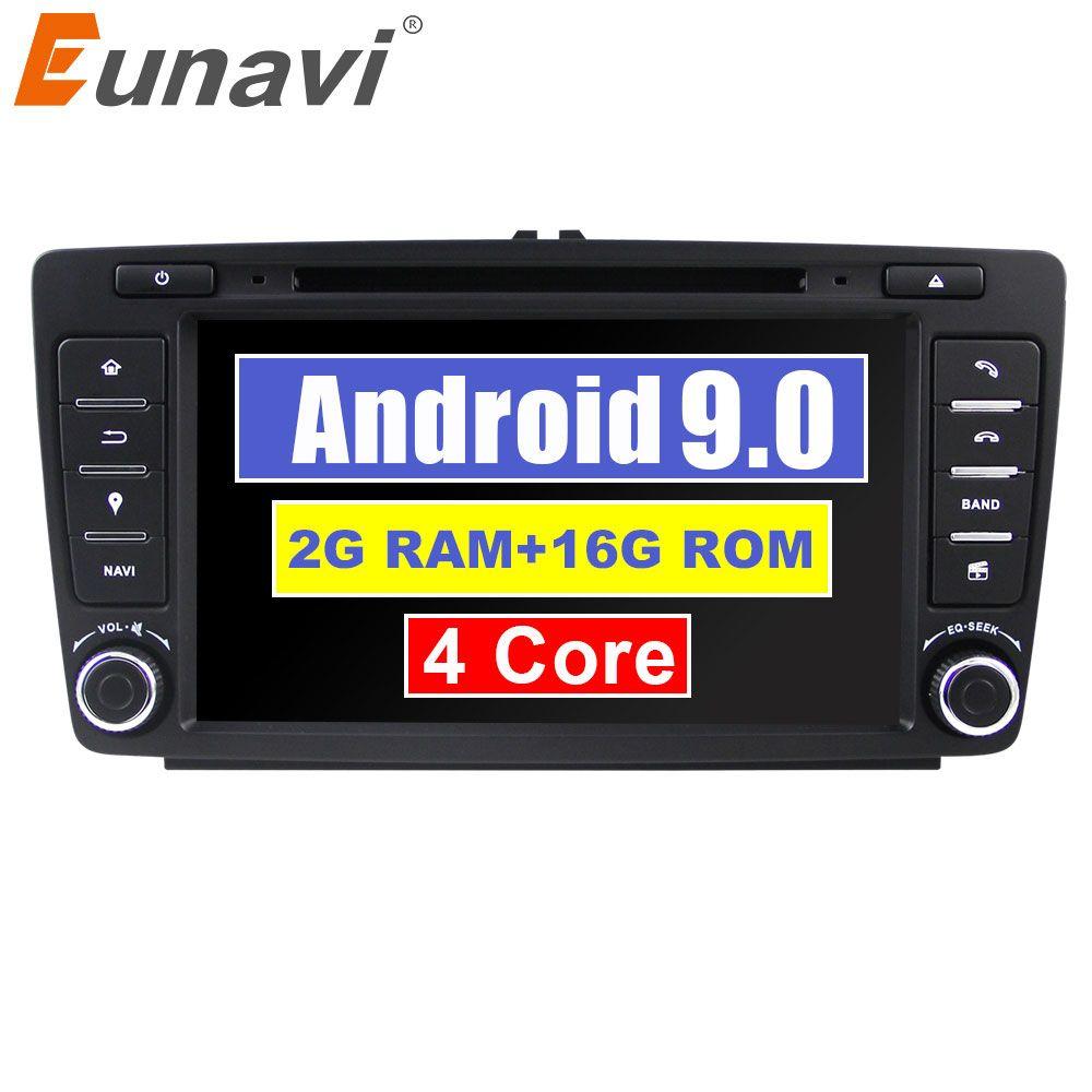 Eunavi 2 din Android 9.0 Auto DVD Player GPS Navigation Für Skoda Octavia 2014 2015 A7 Radio Stereo Multimedia auto pc 2G RAM