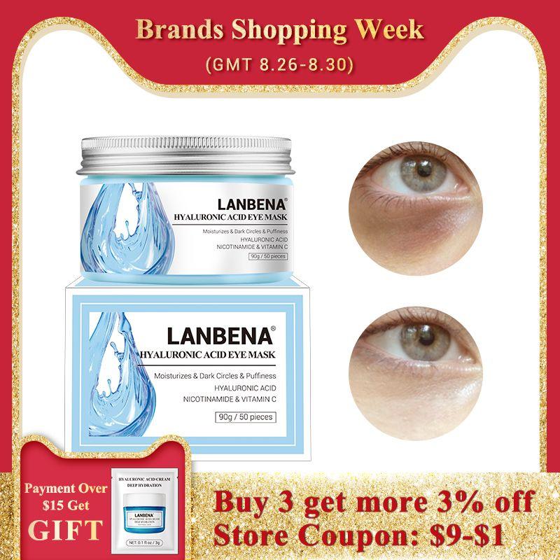 LANBENA Retinol masque pour les yeux acide hyaluronique patchs pour les yeux sérum réduit les cernes sacs yeux lignes réparation nourrir raffermissant soins de la peau