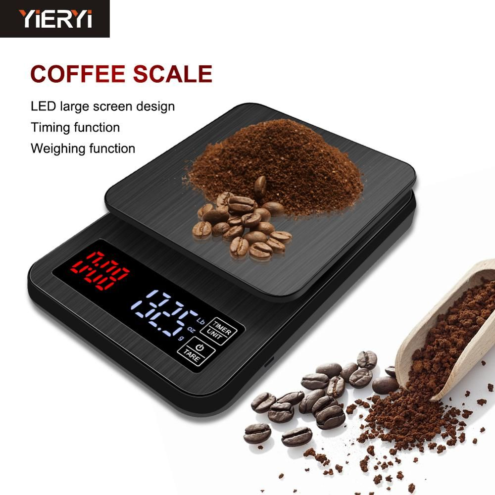 2018 nouveau Mini LCD numérique électronique goutte à goutte café échelle avec minuterie 3kg 5kg 0.1g numérique café poids ménage goutte à goutte échelle minuterie