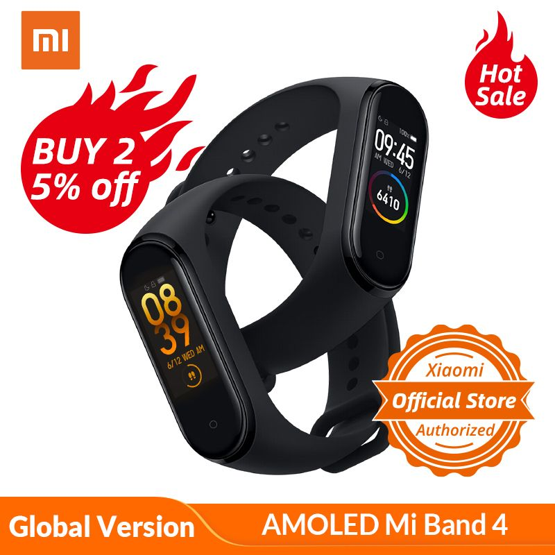 Global Version Xiaomi Mi Band 4 Smart Watch Heart Rate Fitness Activity Tracker Bracelet Colorful Display Smart Band 135 mAh