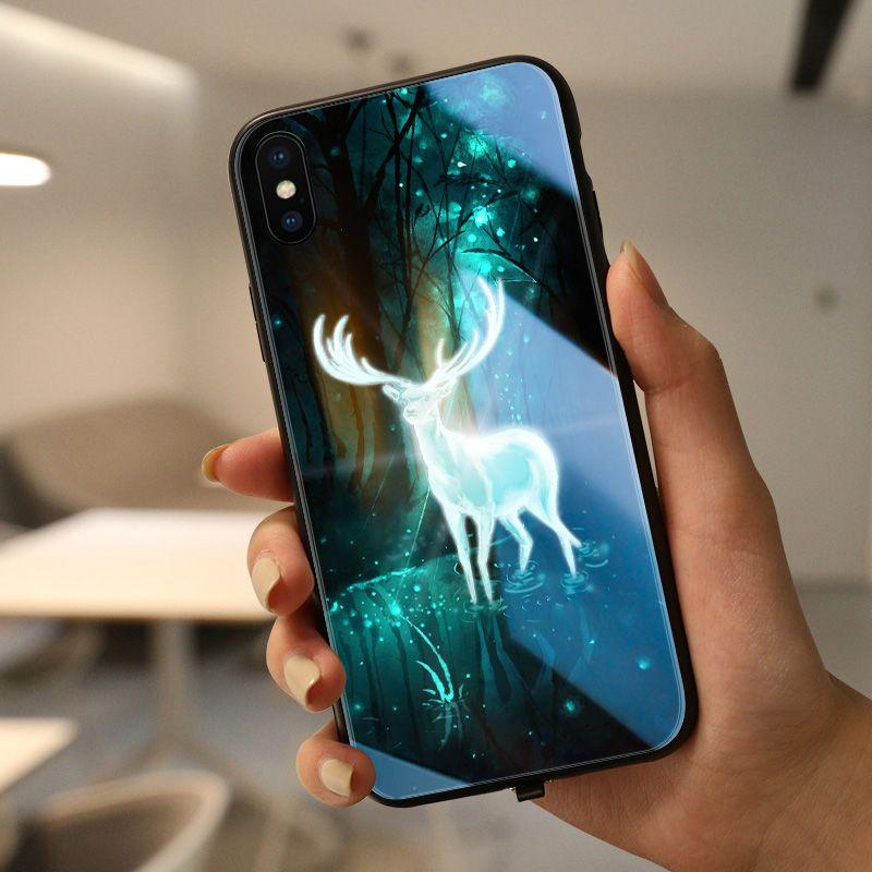 cute animal case Pika Pika mofi case for iphone huawei LED shine case dropshipping