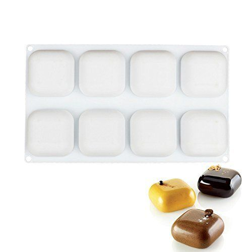 1 pièces 3D Silicone 8 cavités carré gemme conception gâteau moule de cuisson pour Mousse fromage chocolat savon pouding Dessert décoration outils