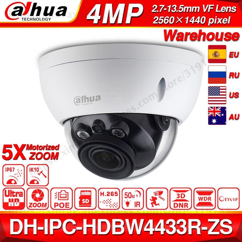 Dahua IPC-HDBW4433R-ZS 4MP caméra réseau IP 2.7 ~ 13.5mm VF objectif 5X Zoom CCTV avec 30M IR portée starlight de IPC-HDBW4431R-ZS