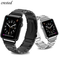 Luxury Strap for Apple watch band 44 mm 40mm iWatch band 38mm 42mm Stainless Steel metal Watchband bracelet Apple watch 5 4 3 21