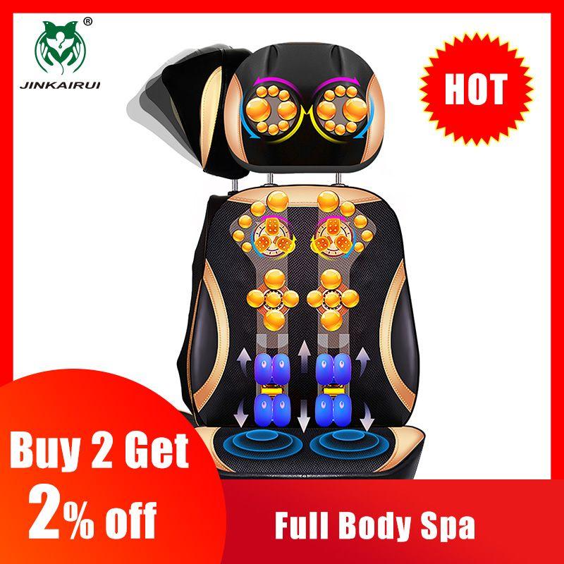 JinKaiRui vibrant électrique cou cervicale dos corps coussin chaise de Massage Massage stimulateur musculaire avec dispositif de chauffage