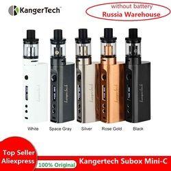 Горячая Kangertech Subox Mini-C Vape комплект Subox Mini C 50 Вт коробка мод с 3 мл Protank 5 без 18650 батарея коробка мод против Drag 2/Shogun/gen