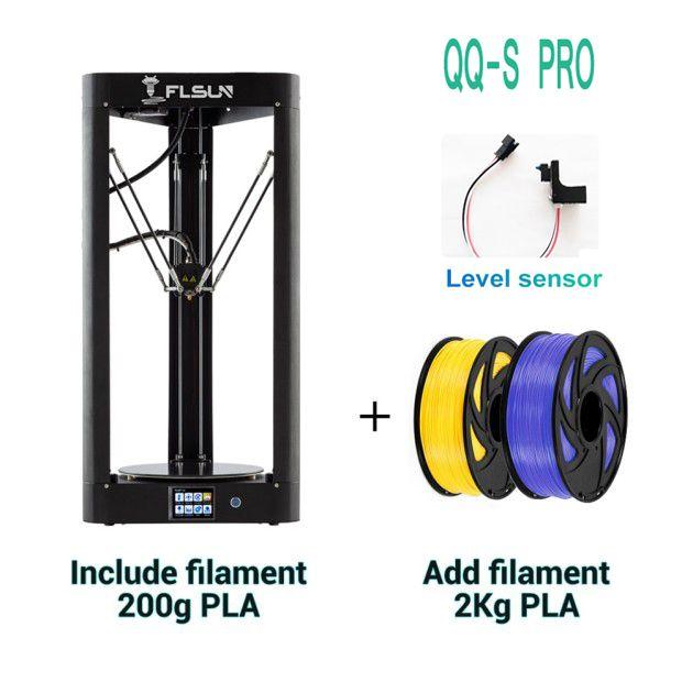 QQ-S Pro Flsun Delta 3D Drucker Hohe Geschwindigkeit Neue Auto-leveling Schalter Großen Druck Größe kossel 3d-Printer touchscreen