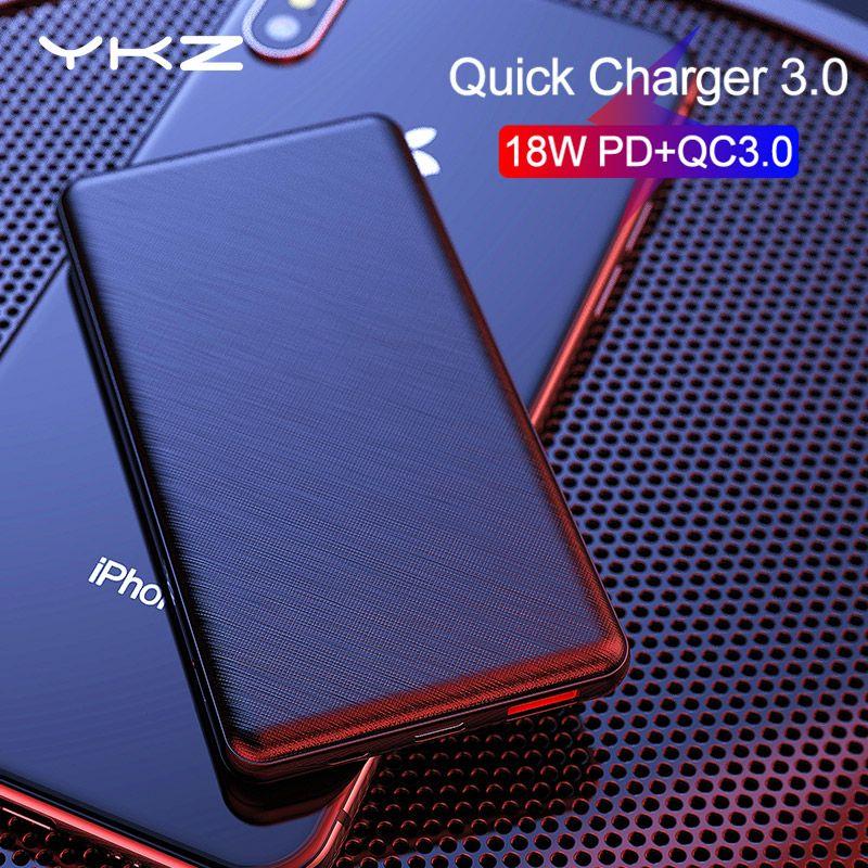 YKZ batterie externe 10000mAh Pover bank type C QC 3.0 2.0 PD charge rapide Powerbank chargeur de batterie pour iPhone Xiaomi appauvrbank