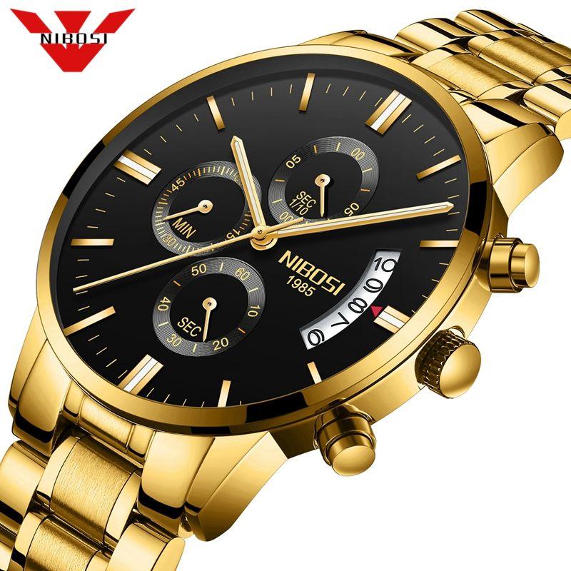 NIBOSI Relogio Masculino hommes montres de luxe célèbre Top marque hommes de mode tenue décontractée montre à Quartz militaire montres Saat