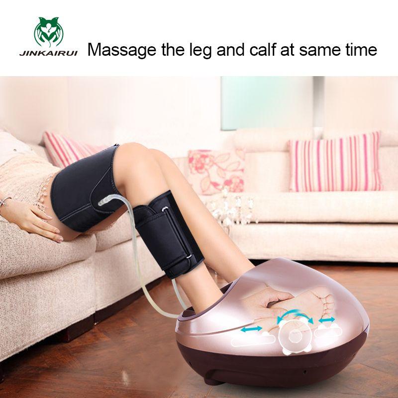 JinKaiRui soins de santé électriques Antistress libération musculaire rouleaux de thérapie Shiatsu Gua Sha chaleur appareil de massage des pieds