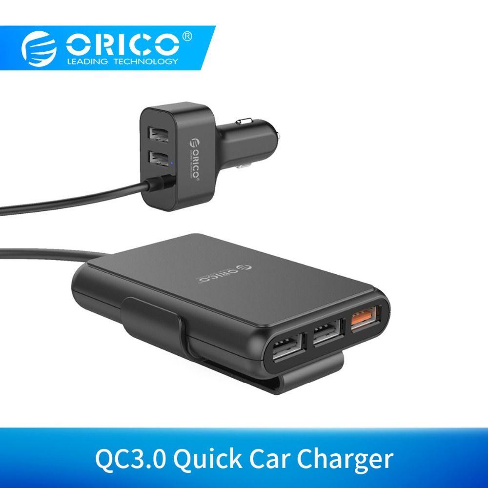 ORICO 5 Ports USB chargeur de voiture Charge rapide 3.0 téléphone portable adaptateur chargeur de voiture pour iPhone 7 6s Samsung Xiaomi chargeur de téléphone de voiture