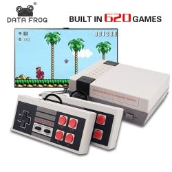 DATA FROG Mini TV Game Console Support HDMI/AV 8 Bit Retro Video Game Console Built-In 600/620 Games Handheld Gaming Player