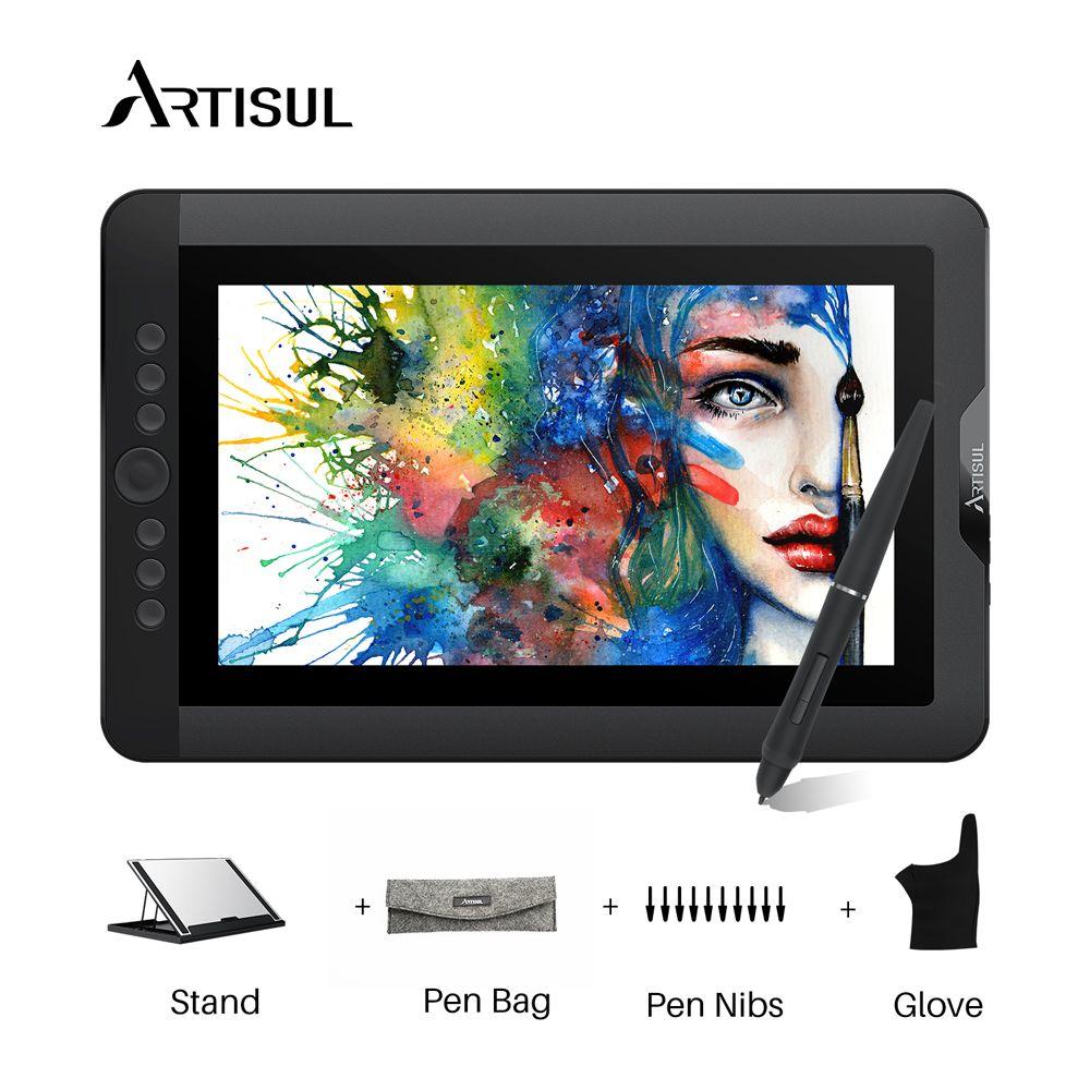Artisul D13S Grafiken Zeichnung Tablet Monitor 8192 Ebenen 13,3 zoll IPS Digitale Grafik Kunst Tablet mit Express Tasten und eine zifferblatt
