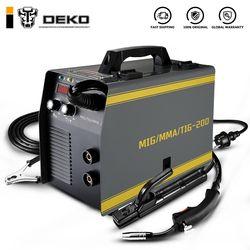 DEKO MKA-200 3 IN 1 Electric Welding Machine Welder MIG/TIG/MMA  5.6KVA 220V 50/60Hz Integrated Welding Gun