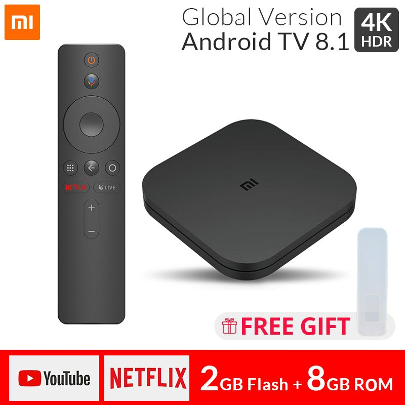 Original Global Xiao mi TV BOX S Smart 4K Ultra HD 2G 8G Android 8.1 WIFI Google Cast Netflix lecteur multimédia IPTV décodeur 4