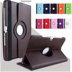 360 Berputar Tablet Kasus untuk Samsung Galaxy Tab 2 10.1 P5100 P5110 P7500 P7510 Lengkeng Pola PU Kulit Stand Folio cover + Film