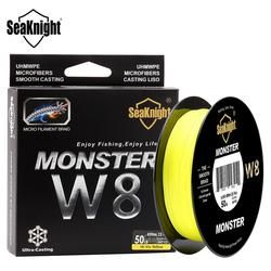 SeaKnight MONSTER8Strands 500M 546yds Ultra Casting Braid Fishing Line Smooth Super Line Hi-vis and Low-vis colors 15-100LBS