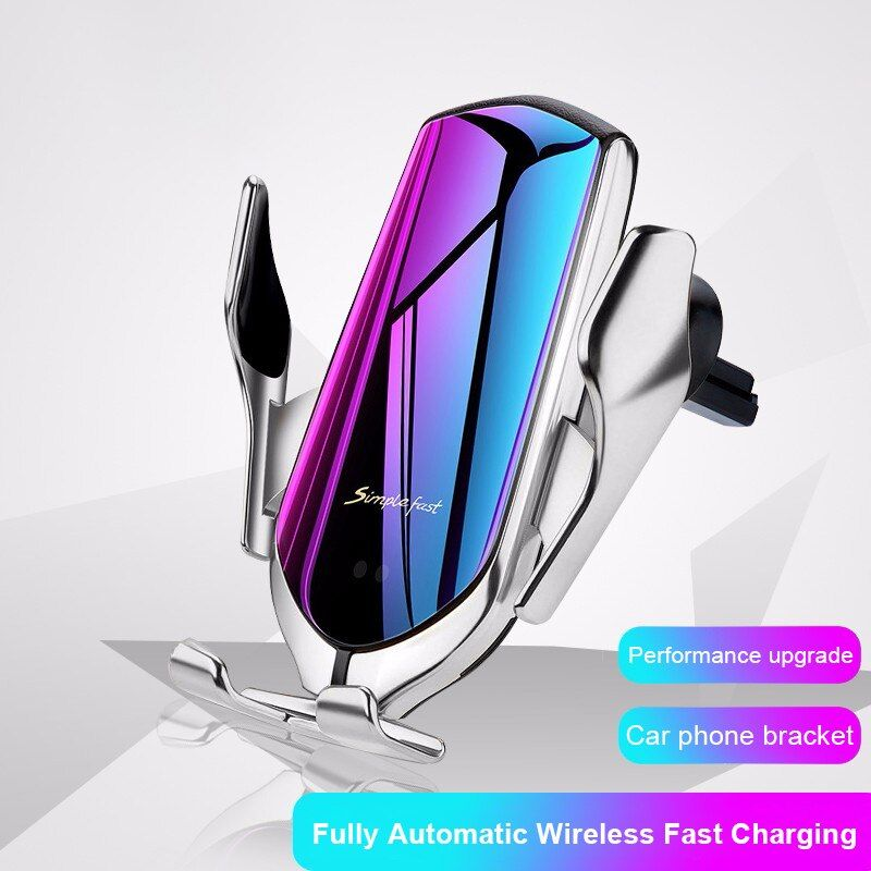 R1 serrage automatique 10W support voiture chargeur sans fil capteur infrarouge intelligent Qi GPS évent montage support de téléphone portable support