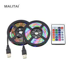 USB LED light Strip Tape DC5V 2835 RGB Holiday Decoration USB LED lamp String Ribbon TV Computer Backlight lighting 1M 2M 3M 4M