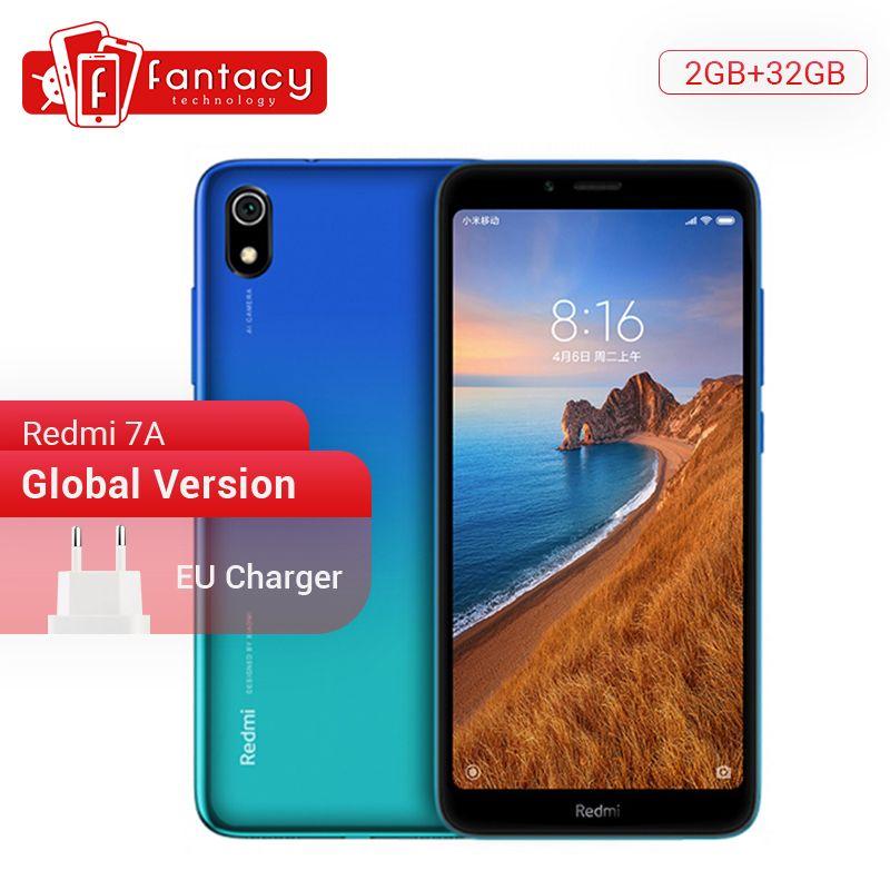 En Stock Version mondiale Xiaomi Redmi 7A 7 A 2GB 32GB 5.45 Snapdargon 439 Octa core téléphone portable 4000mAh 12MP caméra Smartphone