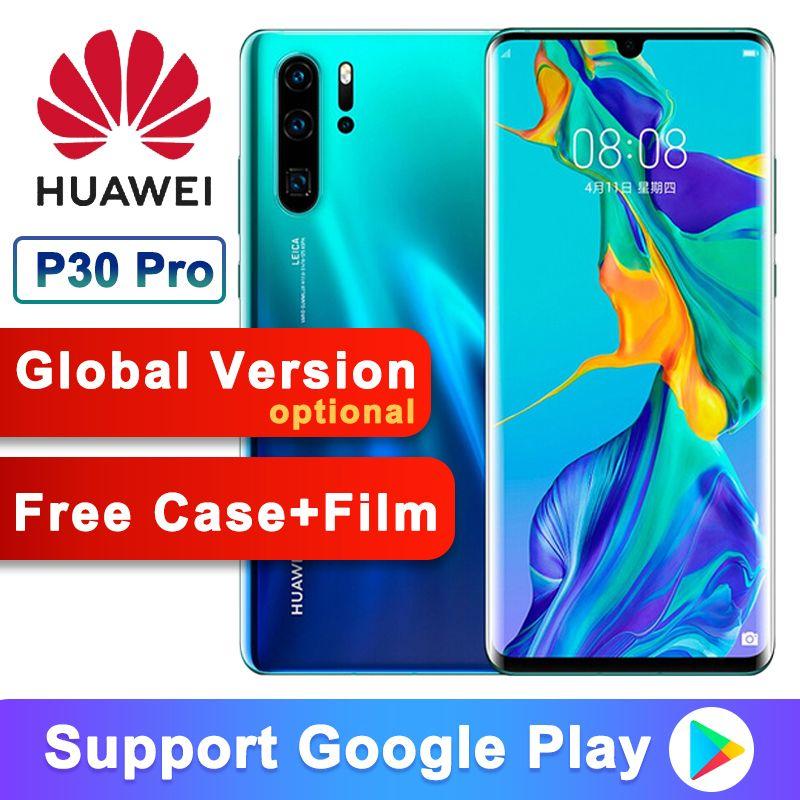 Original Huawei P30 Pro + Uhr GT 8 + 256GB Handy 6,47 ''Full Bildschirm OLED Kirin 980 smartphone NFC GPS Android 9.1 5 Cams