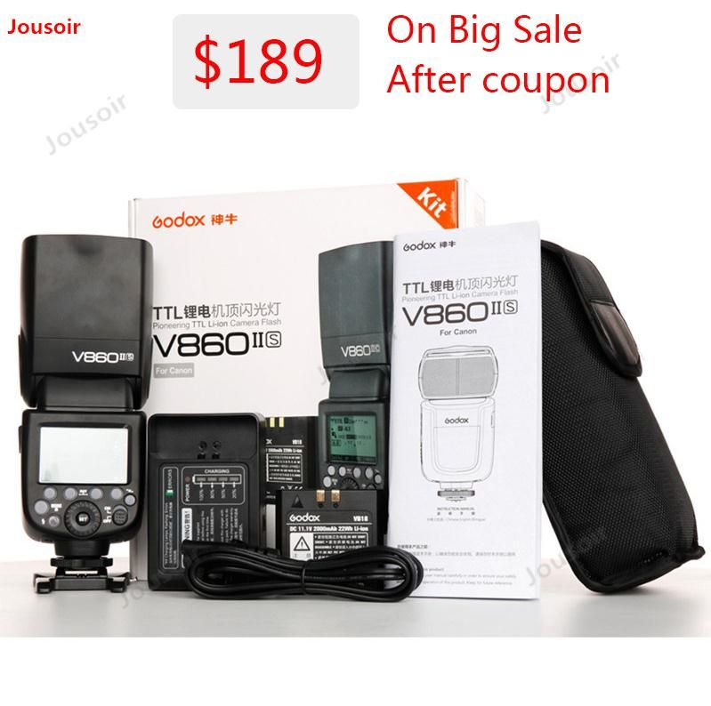 Godox Ving V860II V860II-S/N/C GN60 E-TTL HSS 1/8000 Li-Ion Batterie Speedlite Flash für S/N /C/O/F CD50 T03