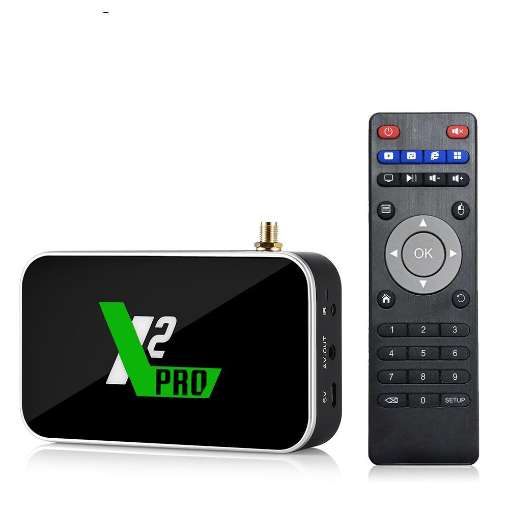 X2 PRO 4GB DDR4 RAM 32GB ROM Smart Android 9.0 TV Box Amlogic S905X2 2.4G/5G WiFi 1000M LAN Bluetooth 4K HD X2 CUBE Media Player