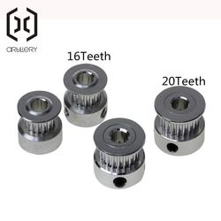 Drive Belt Pulleys GT2 16/20 Teeth Timing Pulley Alumium Bore 5mm Fit for 2GT Belt Width 6mm