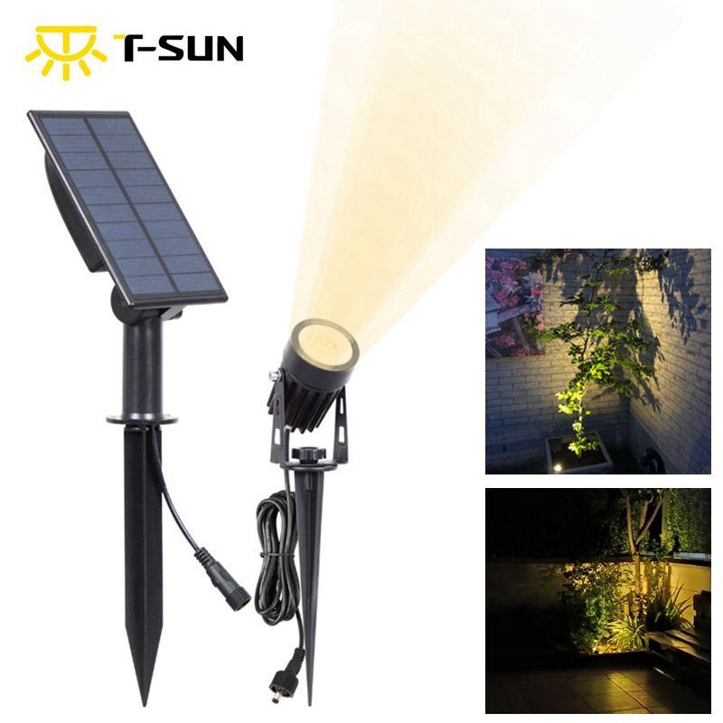 Les projecteurs solaires extérieurs imperméables de paysage de T-SUN LED allume/éteint les lumières solaires automatiques de mur pour la voie d'allée de jardin